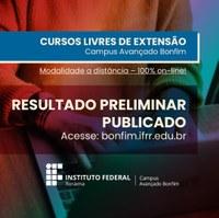 CAB divulga lista com resultado preliminar dos inscritos nos cursos livres