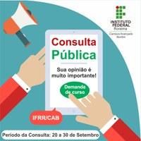 IFRR abre consulta pública para novos cursos no Campus Avançado Bonfim