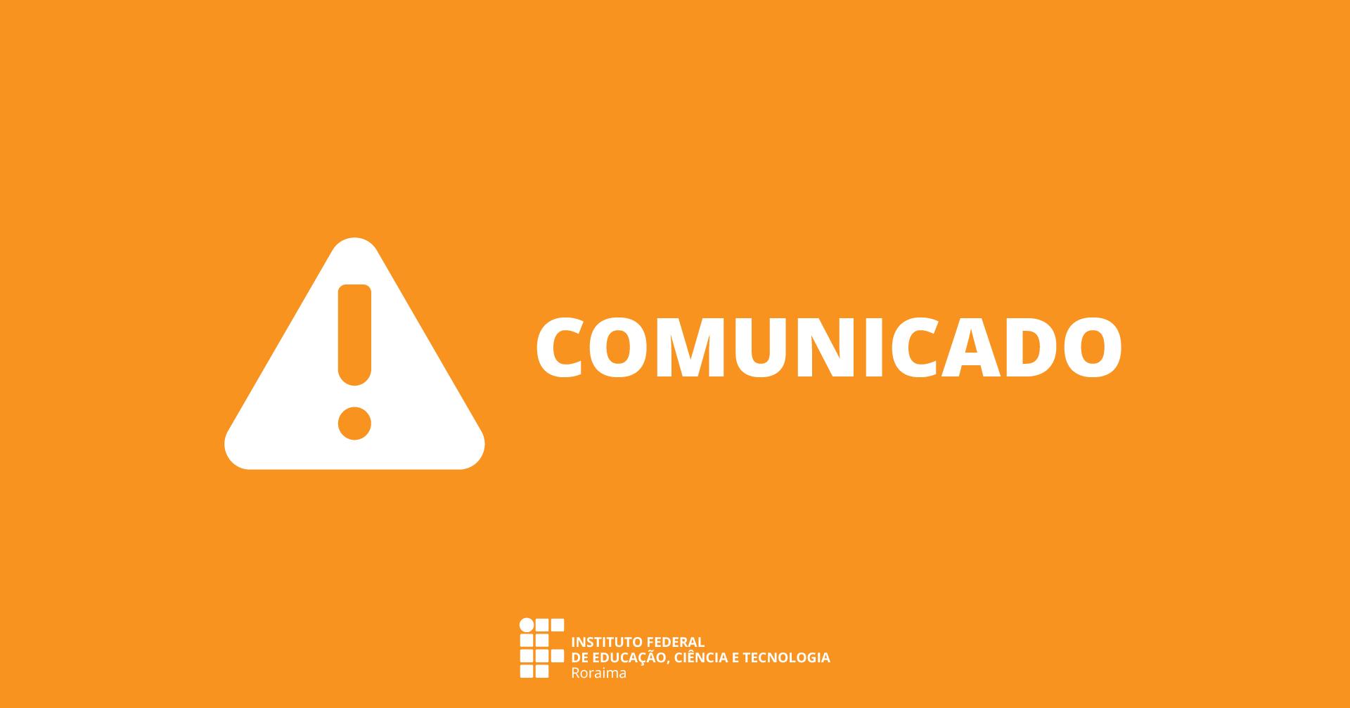 COMUNICADO – Alteração do horário de funcionamento da Coordenação de Pagamento