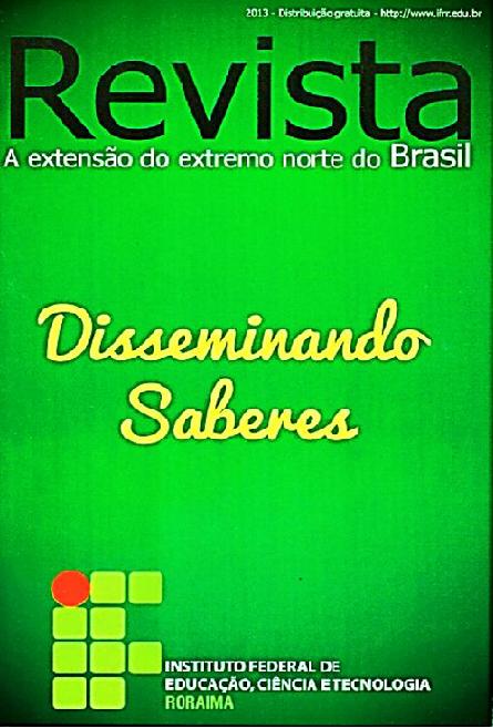 Capa da revista: A Extensão do Extremo Norte do Brasil - Disseminando Saberes